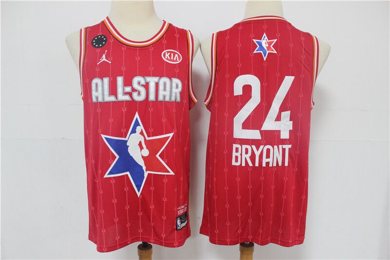 Youth Los Angeles Lakers #24 Kobe Bryant Red 2020 All-Star Stitched NBA Jersey