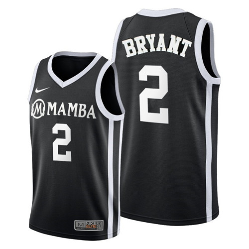 "Youth Los Angeles Lakers #2 Kobe Brant""Mamba"" Black Stitched NBA Jersey"