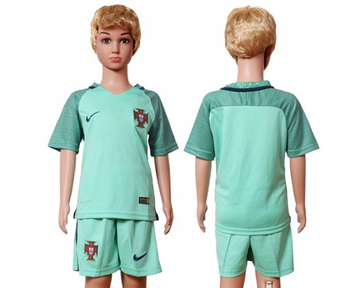 Portugal Blank Away Kid Soccer Country Jersey