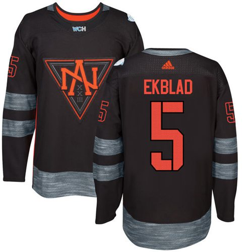 Team North America #5 Aaron Ekblad Black 2016 World Cup Stitched Youth NHL Jersey