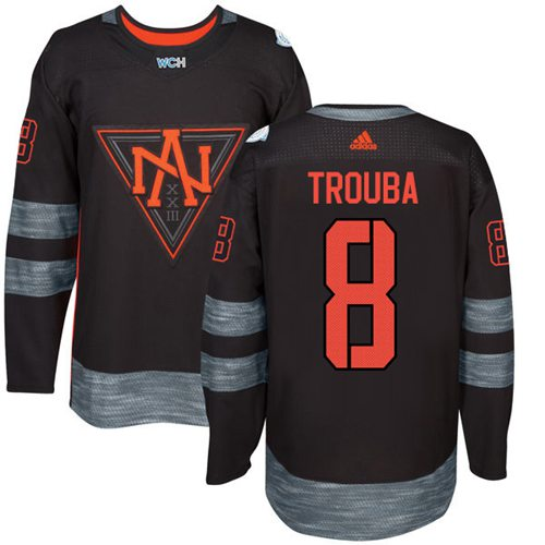 Team North America #8 Jacob Trouba Black 2016 World Cup Stitched Youth NHL Jersey