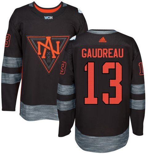 Team North America #13 Johnny Gaudreau Black 2016 World Cup Stitched Youth NHL Jersey