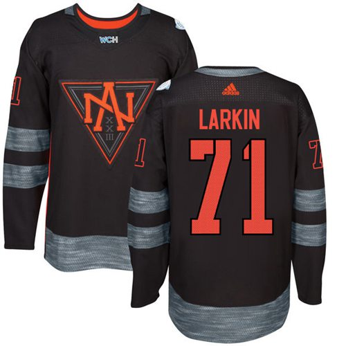 Team North America #71 Dylan Larkin Black 2016 World Cup Stitched Youth NHL Jersey