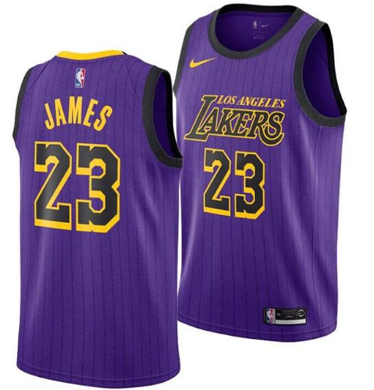 Youth Los Angeles Lakers #23 LeBron James Purple NBA Swingman Stitched NBA Jersey