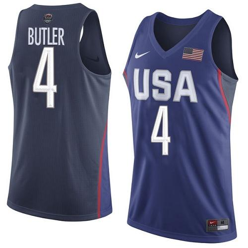 Nike Team USA #4 Jimmy Butler Navy Blue 2016 Dream Team Game Youth NBA Jersey