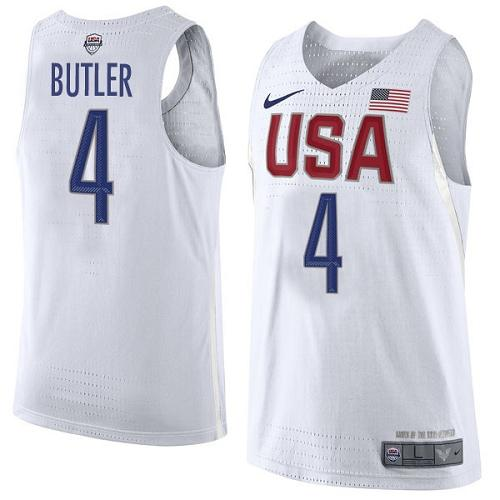 Nike Team USA #4 Jimmy Butler White 2016 Dream Team Game Youth NBA Jersey
