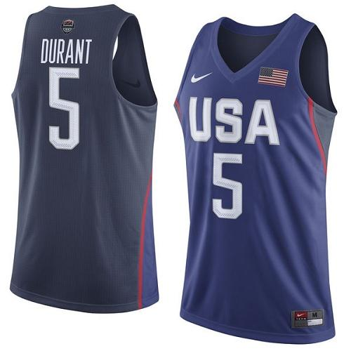 Nike Team USA #5 Kevin Durant Navy Blue 2016 Dream Team Game Youth NBA Jersey