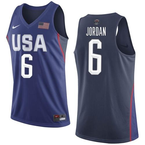 Nike Team USA #6 DeAndre Jordan Navy Blue 2016 Dream Team Game Youth NBA Jersey