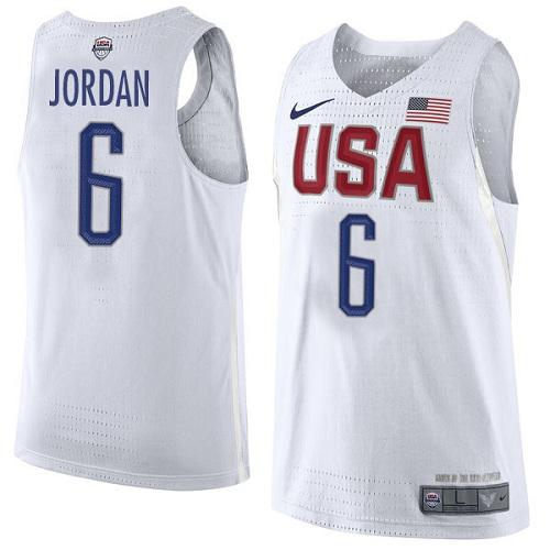Nike Team USA #6 DeAndre Jordan White 2016 Dream Team Game Youth NBA Jersey