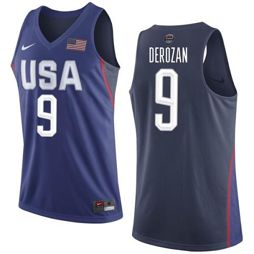 Nike Team USA #9 DeMar DeRozan Navy Blue 2016 Dream Team Game Youth NBA Jersey