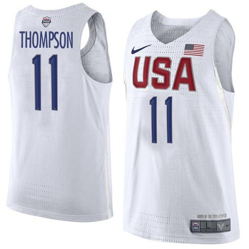 Nike Team USA #11 Klay Thompson White 2016 Dream Team Game Youth NBA Jersey