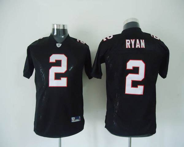 Falcons #2 Matt Ryan Black Color Stitched Youth NFL Jersey