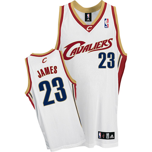 Cavaliers #23 LeBron James White Stitched Youth NBA Jersey