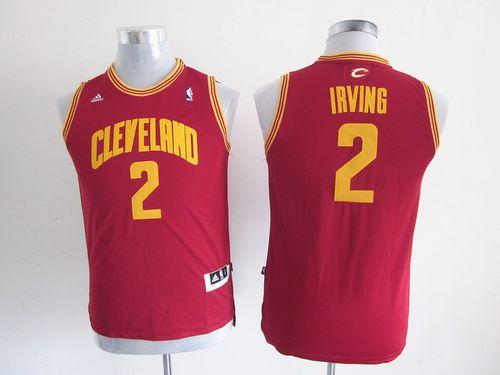 Cavaliers #2 Kyrie Irving Red Stitched Youth NBA Jersey
