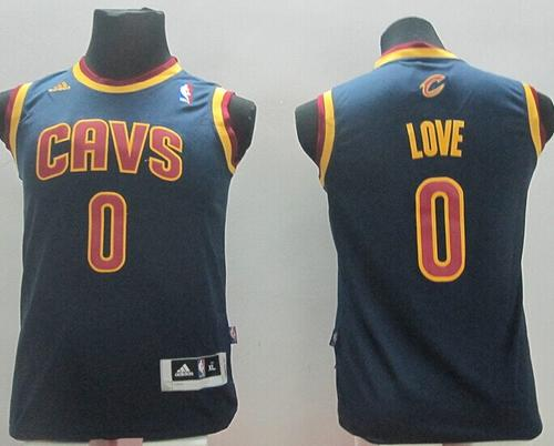 Revolution 30 Cavaliers #0 Kevin Love Navy Blue Stitched Youth NBA Jersey