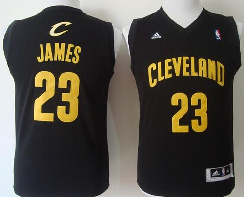 Revolution 30 Cavaliers #23 LeBron James Black Stitched Youth NBA Jersey