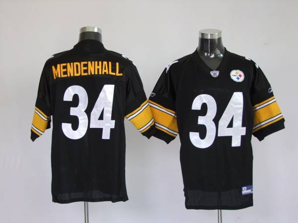 Steelers #34 Rashard Mendenhall Black Color Stitched Youth NFL Jersey