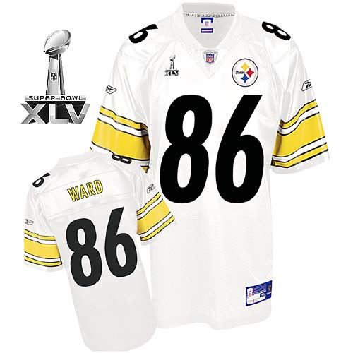 Steelers #86 Hines Ward White Super Bowl XLV Stitched Youth NFL Jersey