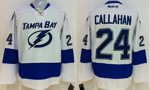 Lightning #24 Ryan Callahan White Stitched Youth NHL Jersey