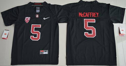 Cardinal #5 Christian McCaffrey Blackout Stitched Youth NCAA Jersey