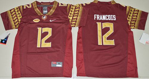 Seminoles #12 Deondre Francois Red Limited Stitched Youth NCAA Jersey