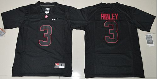 Crimson Tide #3 Calvin Ridley Blackout Limited Stitched Youth NCAA Jersey
