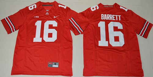 Buckeyes #16 J. T. Barrett Red Stitched Youth NCAA Jersey