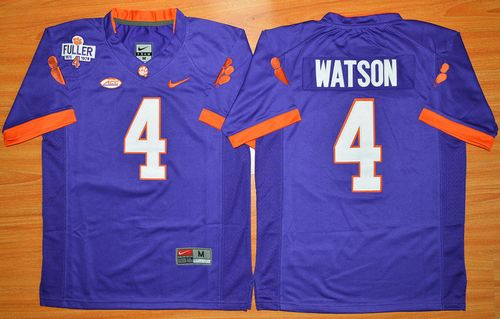 Tigers #4 Deshaun Watson Purple 1975-1978 Fuller Stitched Youth NCAA Jersey