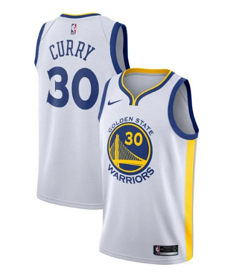 Youth Warriors #30 Stephen Curry White Stitched NBA Jersey