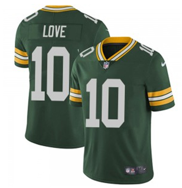 Youth Green Bay Packers #10 Jordan Love Green Vapor Untouchable Stitched Jersey