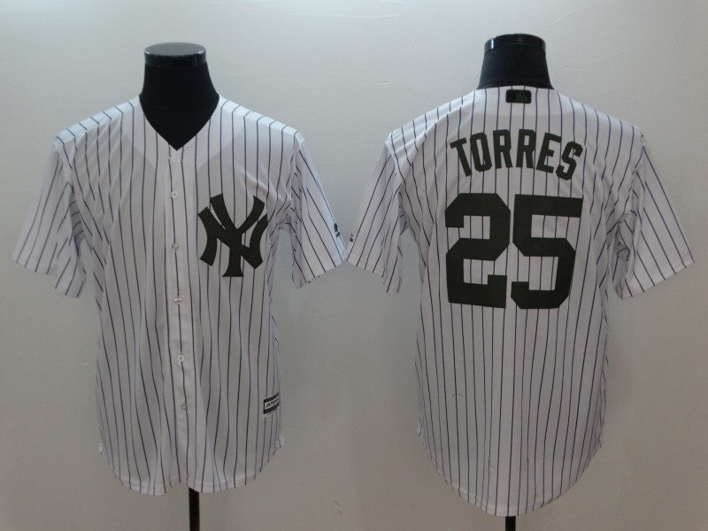 Youth MLB New York Yankees #25 Gleyber Torres White Cool Base Stitched Jersey
