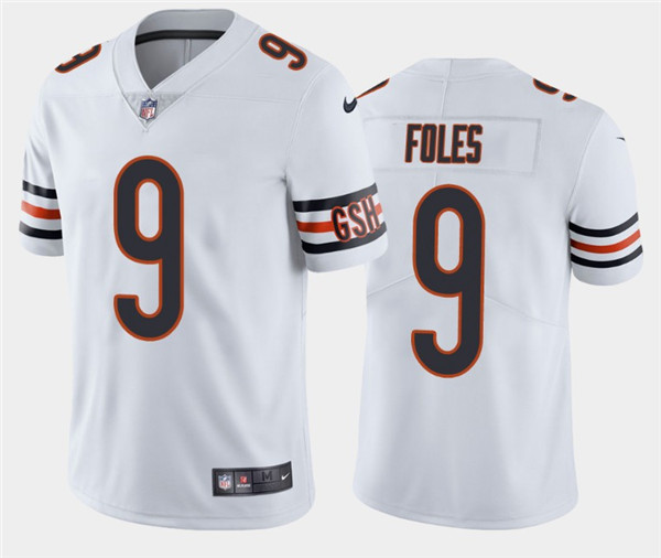 Youth Chicago Bears #9 Nick Foles White Vapor Untouchable Limited Stitched Jersey