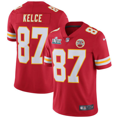 Youth Kansas City Chiefs #87 Travis Kelce Super Bowl LIV Red Vapor Untouchable Limited Stitched NFL Jersey