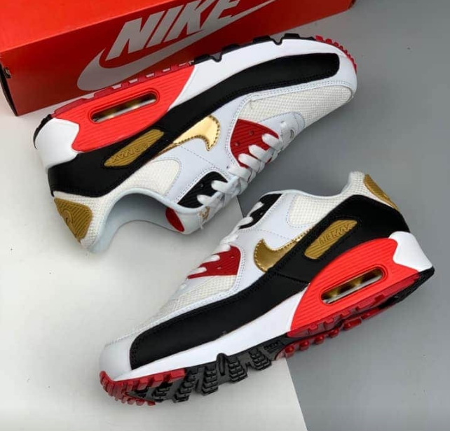 Men's Running weapon Red Air Max 90 Shoes 080546543saef