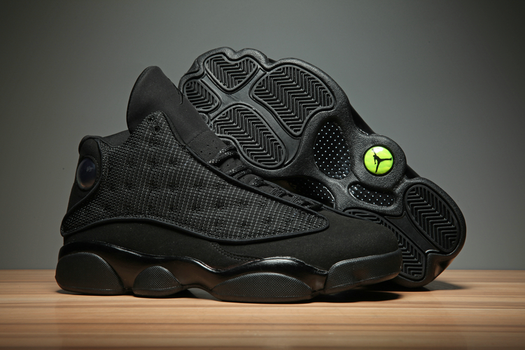 "Men's Running Weapon Air Jordan 13 ""Black Cat"" Shoes 003"