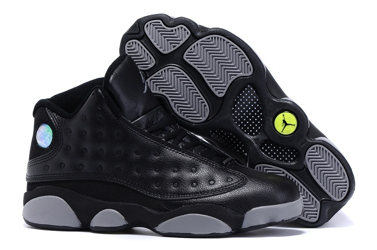 Running weapon Cheap Wholesale Nike Shoes Air Jordan 13 Black/Grey