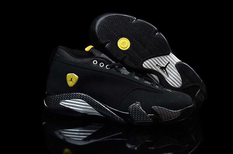 Running weapon Cheap Wholesale Air Jordan 14 Retro Women Black/Yellow