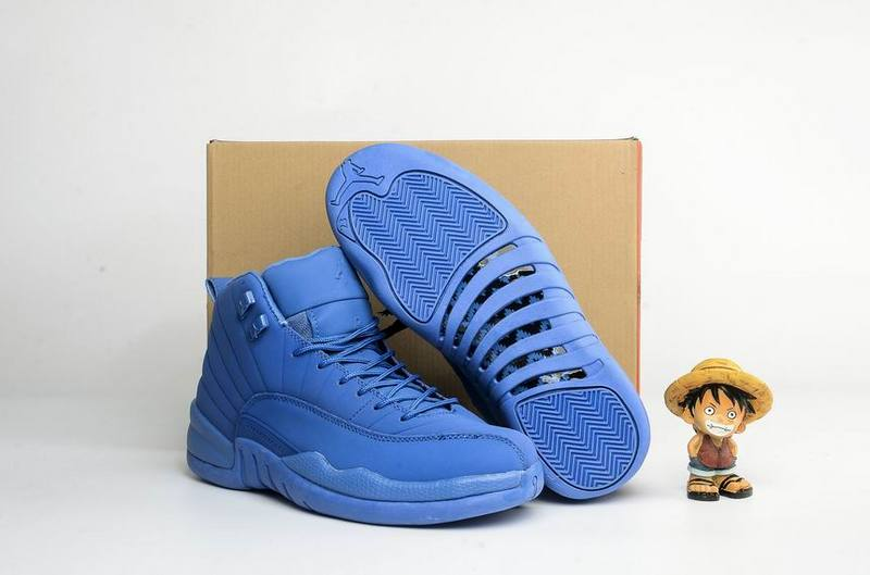 Running weapon Cheap Wholesale Air Jordan 12 Blue Suede Retro Men