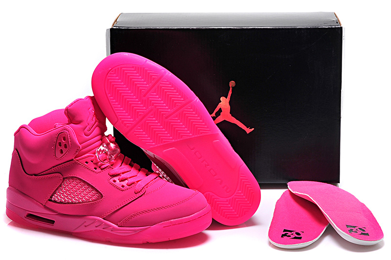Running weapon Cheap Wholesale Nike Shoes Air Jordan 5 Hyper Pink for Women