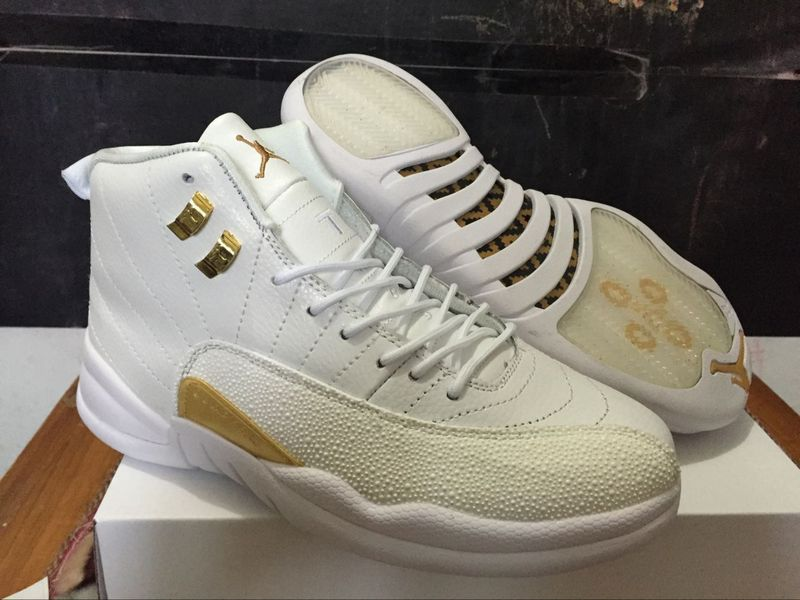Running weapon Newest White Air Jordan 12 OVO Shoes Retro Men Cheap