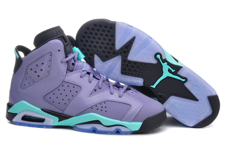 Running weapon Cheap Wholesale Air Jordan VI Shoes Women GS Green Glow