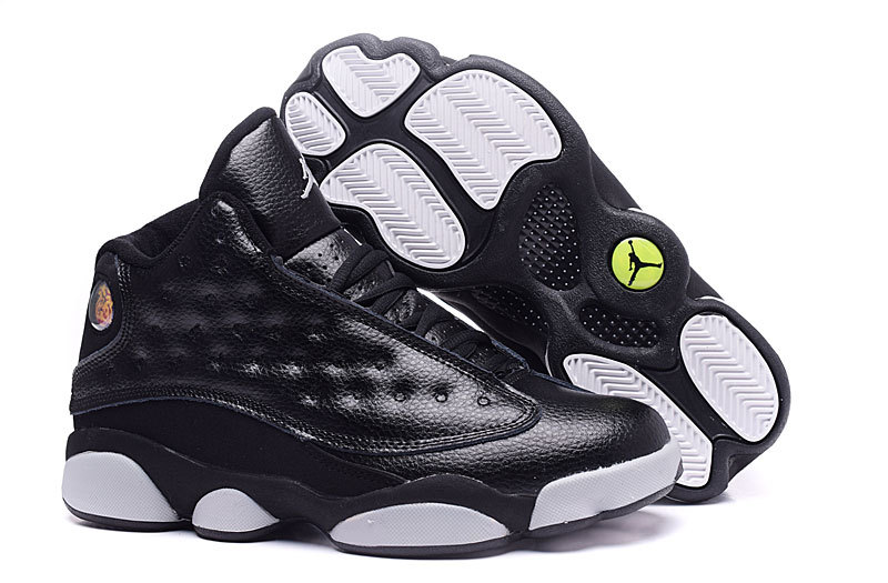 Running weapon Cheap Replica Air Jordan 13 Black/White Shoes Retro Men