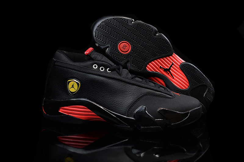 Running weapon Cheap Wholesale Air Jordan 14 Retro Women Black/Red