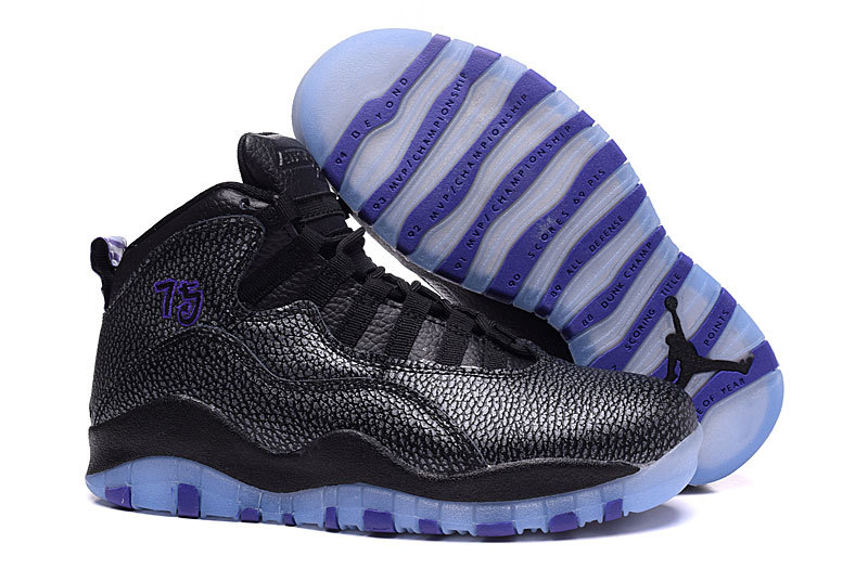 Running weapon Cheap Air Jordan 10 Shoes Retro Women Black/Purple