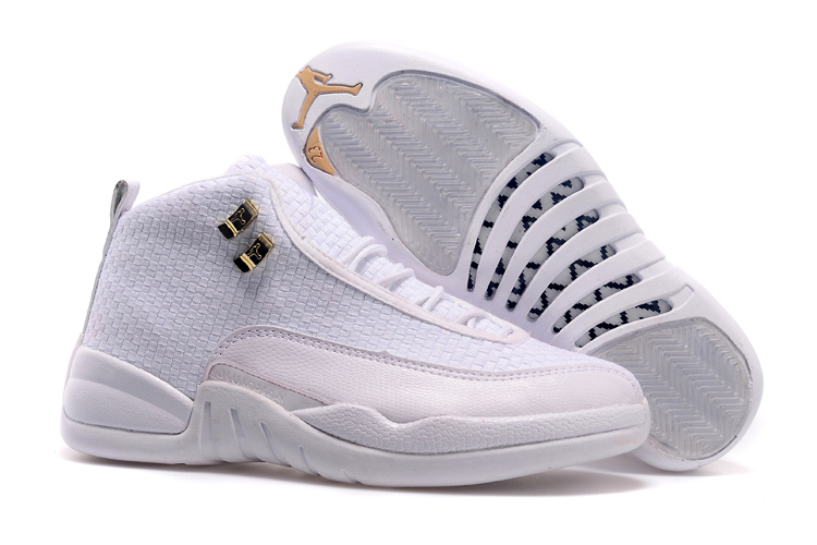 Running weapon Cheap Wholesale Nike Shoes Air Jordan 12 Future All White