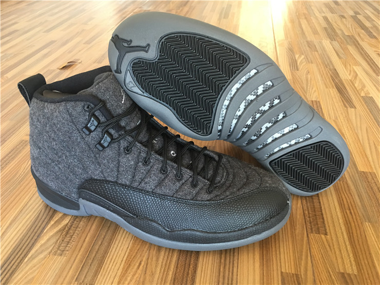 Running weapon Cheap China Air Jordan 12 Wool Retro Women Ash Grey