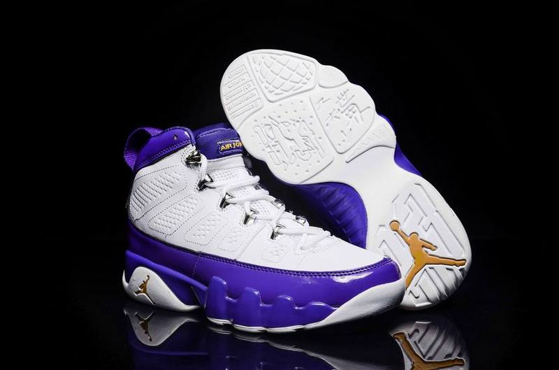 Running weapon Wholesale Air Jordan 9 Shoes Retro White/Purple
