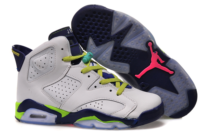 Running weapon Cheap Air Jordan 6 Fierce Green Women's Shoes Basketball