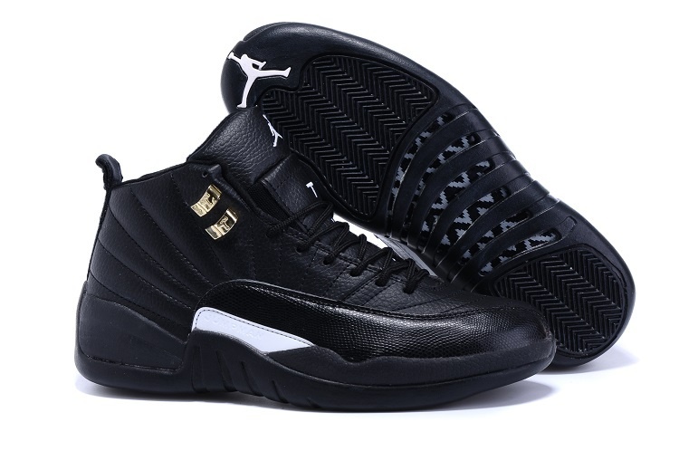 Running weapon Cheap Wholesale Nike Shoes Air Jordan 12 Retro Black/White