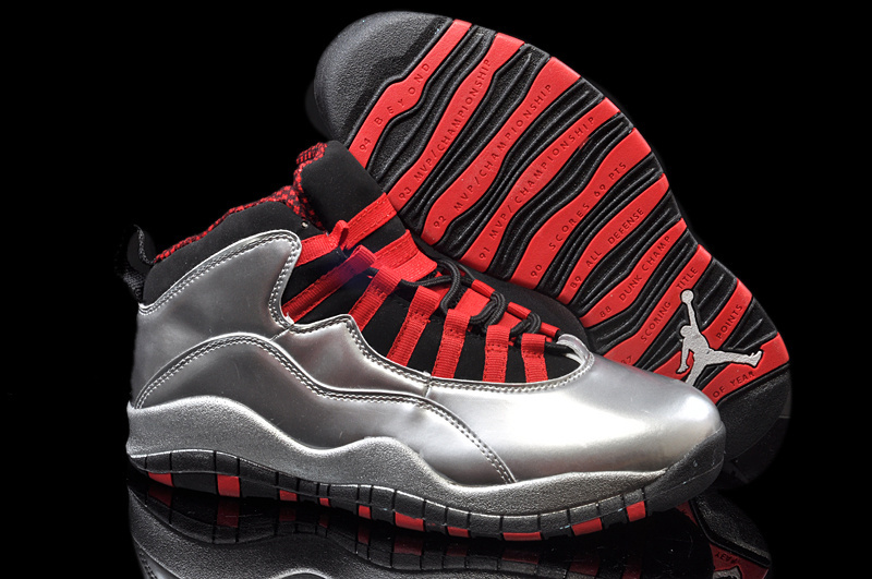 Running weapon Air Jordan 10 Silver Shoes Retro Wholesale from China